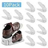 LITZEE Organizadores Ajustables de Zapatos, Soportes de Calzado Apilador de Plástico para Zapatos Ahorro de Espacio