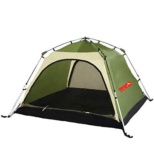 Outdoor Camping Tent Direct Verkoop Aluminium Paal Dubbele Laag Gratis Gebouwd Snelheid Open Dubbele Tent Ultra Licht Waterdichte Automatische Tent