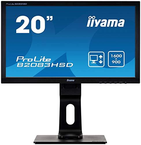 Iiyama B2083HSD-B1 50,8 cm (20 Zoll) LED-Monitor (VGA, DVI, 5ms Reaktionszeit) schwarz