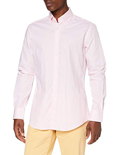 Hackett Herren Skinny Bgl STR Businesshemd, Blau (5ARBLUE/White 5AR), 39 (Herstellergröße:M)