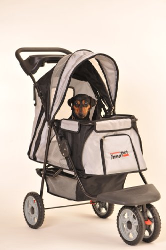 Innopet Hundebuggy Hundewagen schwarz Pet Stroller All Terrain für den klassischen Einsatz Buggy für Hunde