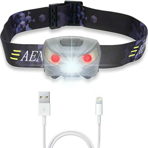 USB Rechargeable LED Head Torch - Super Bright, Waterproof, Lightweight &...