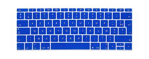 Protector de teclado francés Para MacBook Retina 12 pro13 EU-Enter A1708 A1534 A1931 teclado cubierta de accesorios para ordenador portátil película azul oscuro