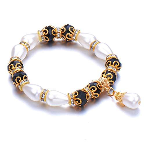 Jewellery Bracelets Bangle For Womens Black Beaded Bracelet Men Women S Bangle Beaded Bracelet Women Man Friend Gift-Antique_Bronze_Plated