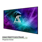 "Akia Screens 125"" Edge Free Fixed Projector Screen 125 inch Diagonal 16:9 Thin Edge Projection..."