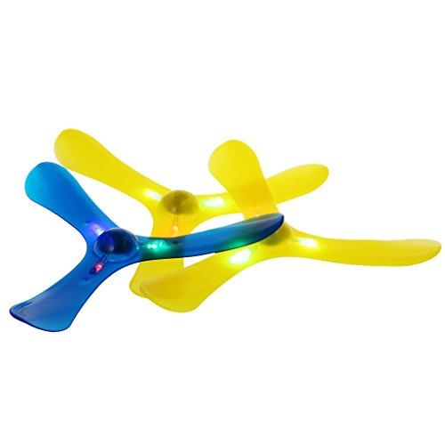 KOFUN 3 Blätter Bumerang, Känguru-Rückschritt V-Förmiger Bumerang-Flugscheibe Werfen Catch Outdoor-Spiel Idealer Weihnachtsgeburtstag Boomerang Geschenk Für Kinder Farbe Zufällig