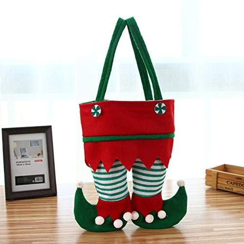 Buleerouy Weinflaschendecke, Weihnachtsgeschenk, Tüten, Kekse, Bonbons, Verpackung, Weihnachtsdekoration 22 x 26cm A