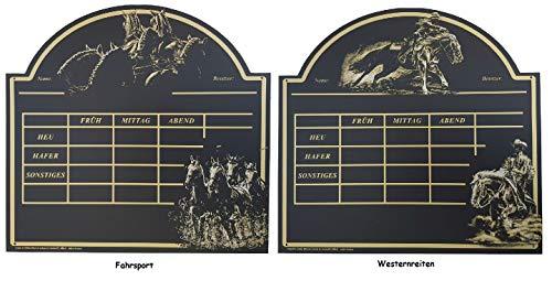 NETPROSHOP Designer voederbord, stalbord, boksbord, paardenstalbord Bötzel, Westernrijden