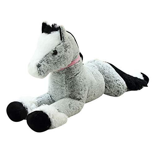 huobeibei Plush Horse Toy Big Size Stuffed Animal Doll Baby Kids Birthday Gift Home Shop Decor Toy 90cm B