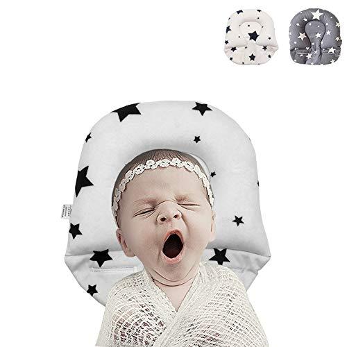 Inchant Orthopädisches Babykissen Gegen Kopfverformung und Flachkopf zur Verhinderung von plagiocephischem Babykissen - Sternelfenbein