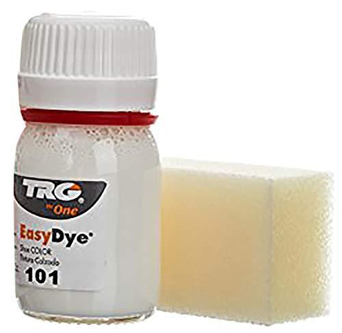 TRG The One - Tinte para Calzado y Complementos de Piel   Tintura para zapatos de Piel, Lona y Piel Sintética con Esponja aplicadora   Easy dye #101 Blanco, 25ml