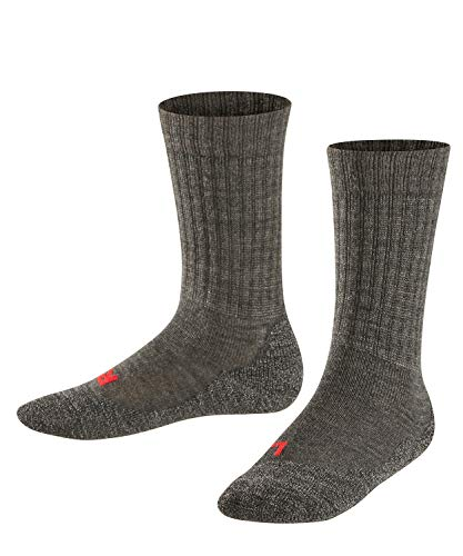 Falke Unisex Kinder Socken, Active Warm K SO -10450, Grau (Asphalt Melange 3180), 39-42