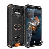 OUKITEL WP5 PRO 4G Outdoor Smartphone ohne Vertrag, 8000mAh Batterie 4 LED Blitzlicht, Android 10 Robustes Handy IP68, Helio A25 4GB + 64GB, 13MP + 2MP + 2MP, Gesichtserkennung, GPS DUAL SIM Orange