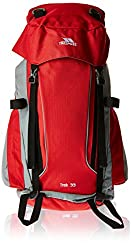 Camping Backpack with a capacity of 66litres. Padded shoulder straps. Anatomical Support System and padded lumbar support belt. Includes rain protector. Material: 600D polyester ripstop PVC
