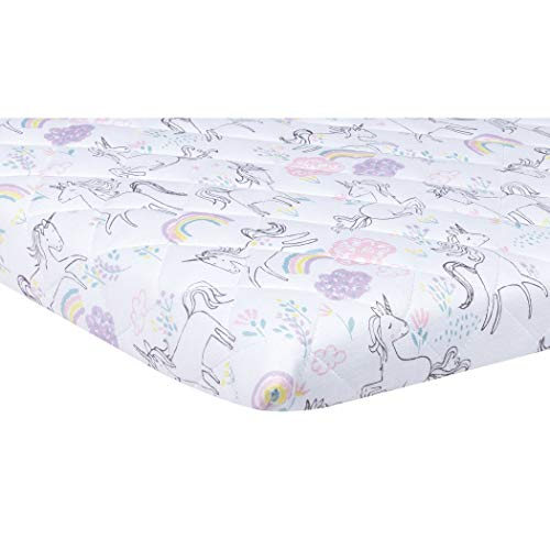 Trend Lab Quilted Jersey Playard Sheet, Playful Unicorns