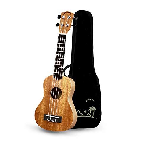 POMAIKAI Soprano Ukulele Beginner 21 inch Mahogany Ukalalee Small Hawaiian Guitar Ukeleles for Kids Beginners Adults with Gig Bag