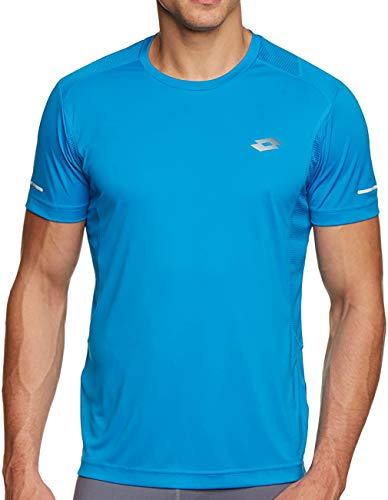 Lotto Speedride T-Shirt de Sport à Manches Courtes pour Homme L Bleu - Bleu