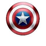 Capitan America Scudo Metallo Taglia Unica Supereroe Scudo Puntelli per Adulti Costume America Scudo Capitan America, Capitan America