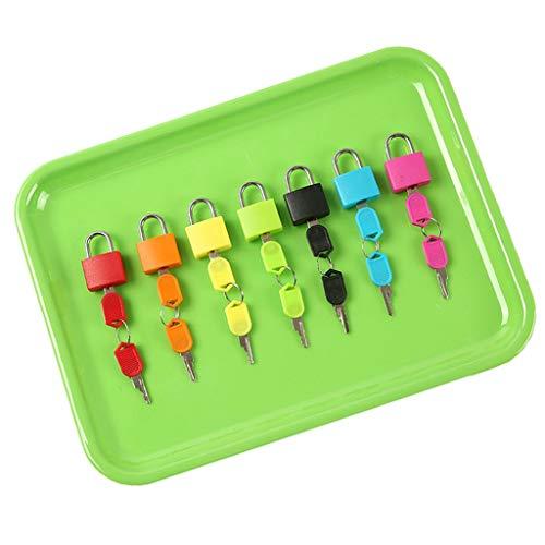 Sharplace Candados Coloridos de 7 Piezas, Maleta de Viaje, Candado para Bolsa de Computadora con 2 Llaves