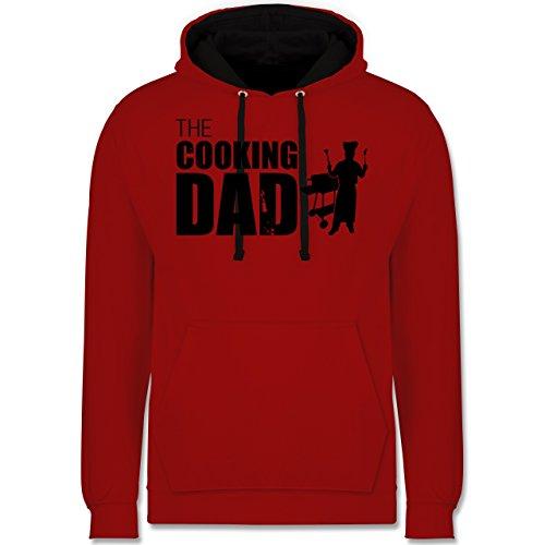 Shirtracer Grill - The Cooking Dad - XL - Rot/Schwarz - Geschenk - JH003 - Hoodie zweifarbig und Kapuzenpullover für Herren und Damen