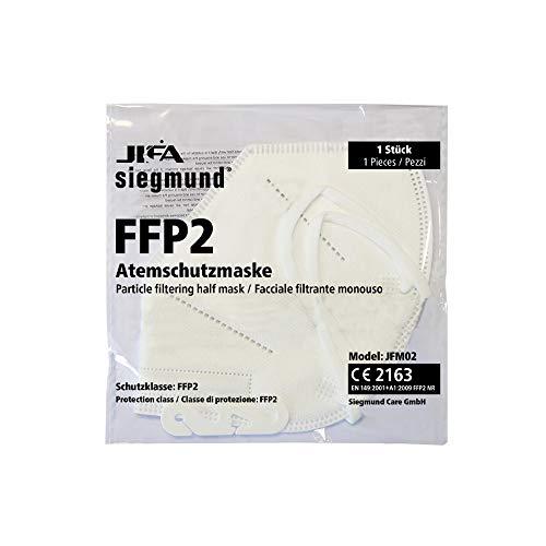 Siegmund 20 Stück Atemschutzmaske nach FFP2-Norm Mundschutz CE zertifiziert - 3