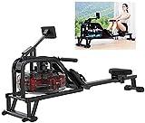 Máquina de Remo Equipo de Fitness aeróbico con medidor Inteligente LCD con Soporte Triangular de Cinco Puntos de Acero Inoxidable Grueso 2 0T-3 0T