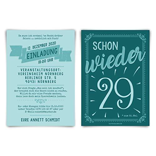 Ronde 60e verjaardag individuele uitnodigingskaarten uitnodigingen - al weer 29 80 Stück 80 jaar