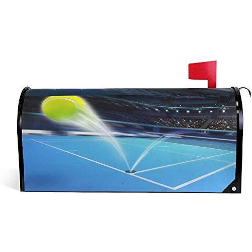 CC Decoration Magnetisch Mailbox,Tennisball-Blaue Attraktive Briefkasten-Abdeckungen Im Freien Für Hausrasen-Garten 45.8 * 52.6cm