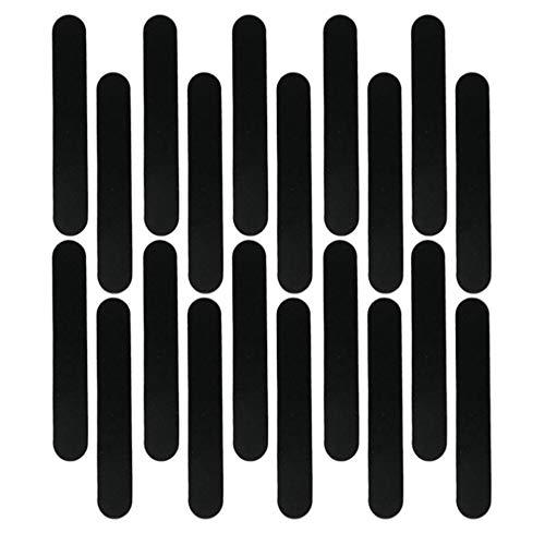Perfeclan 20x Bandeau Intérieur Anti-Transpiration Réducteur de Taille de Chapeau Casquettes Bonnet pour Enfant Adulte - Noir, 23,5x3,7cm