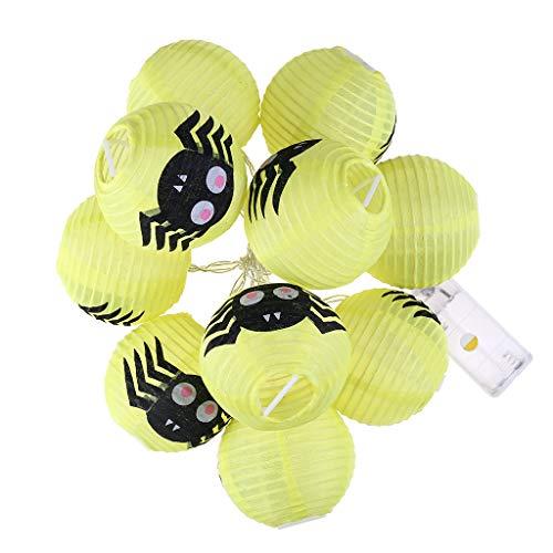 10 LED Halloween Lichterkette ,Kürbis Licht Spinne Nachtlicht Nachtleuchte Nachtlampe Deko Licht für Party, Garten, Weihnachten, Halloween, Hochzeit, Beleuchtung Deko (B)