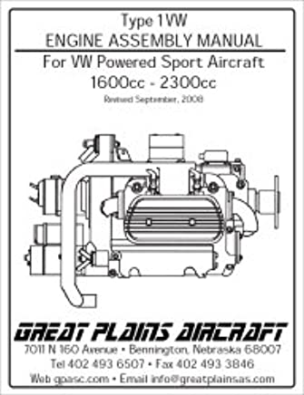 type 1vw engine assembly manual for vw powered sport aircraft 1600cc -  2300cc paperback – 2008