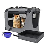 Prutapet Large Cat Carrier 24x16.5x16.5 Soft-Sided Portable Pet Crate for Car...