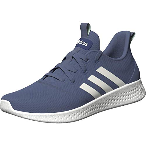 adidas womens Puremotion Running Shoes, Crew Blue/White/Clear Mint, 7.5 US