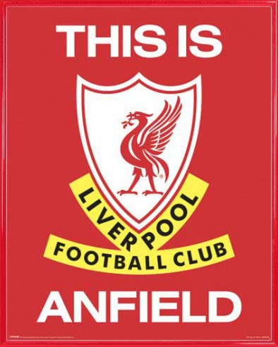 1art1 Fútbol Póster Mini con Marco (Plástico) - Liverpool FC This Is Anfield (50 x 40cm)