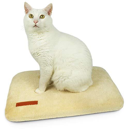 SCHLITZOHR Fensterliegeplatz Teddy | stabile Katzenliege für Fensterbank | Fensterbankliege für Katzen | 51 × 36 cm (beige)