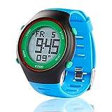 EZON Orologio Digitale Sportivo da Uomo, Orologio da Polso per Adolescenti per la Corsa di Orologi elettronici Impermeabili UltraSottili con Timer di Allarme 2 Fuso orario-Blu