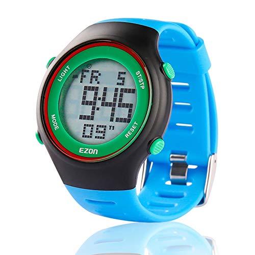 Reloj deportivo digital EZON L008, ultrafino, para exterior, sumergible hasta 30 metros, con cronómetro, temporizador, función de timbre