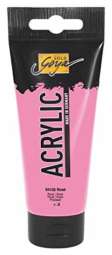 Kreul 84138 - Solo Goya Acrylic, 100 ml Tube in rosa, cremige vielseitig einsetzbare Acrylfarbe in Studienqualität, auf Wasserbasis, schnell und matt trocknend, gut deckend, wasserfest