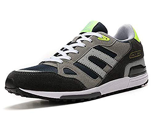 AX BOXING Zapatillas Hombres Mujer Deporte Running Sneakers Zapatos para Correr Gimnasio Deportivas Padel Transpirables Casual (41 EU, A98333-Gris Claro)