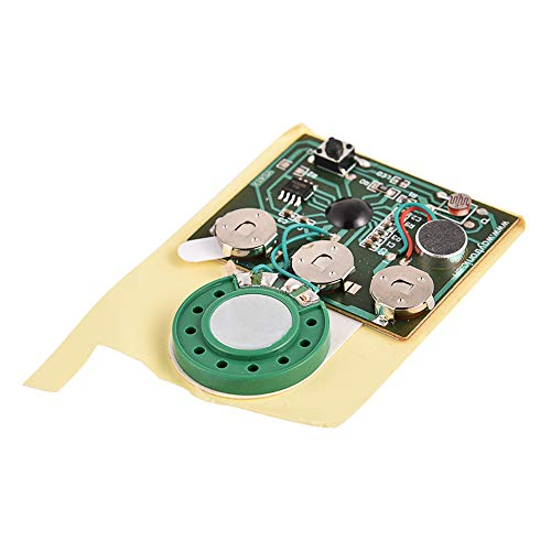 Sound Chip Module, 30 Seconds Recordable Sound Module with Push Button/Light Activated for DIY Audio Cards Plush Toy Musical Gift Greeting Cards Birthday Christmas Valentine (Push Button)