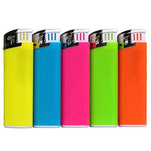 Elektronik - Feuerzeug Colorflame mit Druck/Werbung/Logo / 100 Stück - Druck einseitig