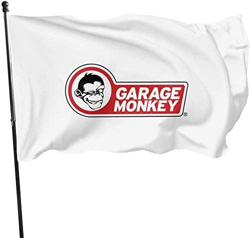 maichengxuan Garden Flagge Sign Outdoor Party Indoor Banner 3x5 FT Garagemonkey Monkey See Monkey Do Flagge Banner Flagges
