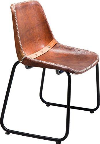 Kare Design Sedia Vintage in Pelle, Marrone, 78x42x45cm