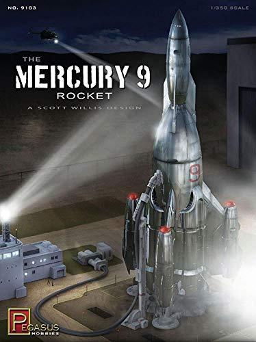 Pegasus Hobby Mercury 9 Rocket Model Kit - 9103