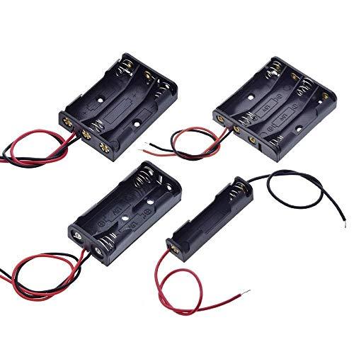 LKK-KK AAA-Größe 7 Batterie-Aufbewahrungsbehälter-Kasten-Halter-Leads mit 1 2 3 4 Slots Behälter-Beutel-DIY-Standard-Batterien Aufladen (Größe: 3 Slots)
