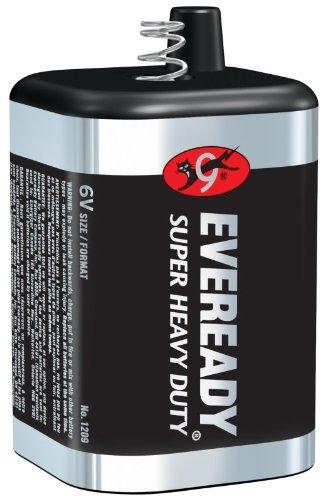 2-pack Eveready 1209 (509) 6 Volt Lantern Battery