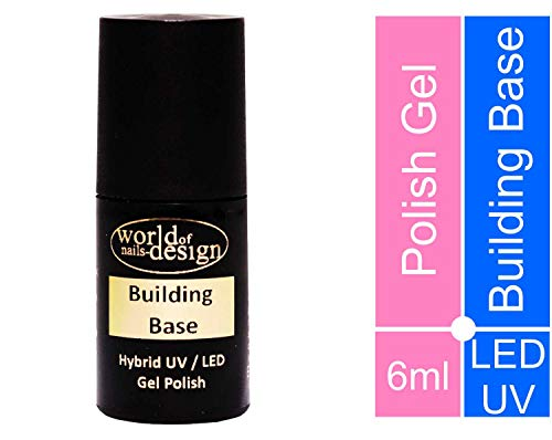 World of Nails-Design Building Base LED/UV Polish Gel, Hybridlack, Soak Off Gel ablösbar 6 ml