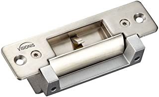 Visionis VIS-EL104-FSESA 2,200lbs Electric Door Strike for Wood and Metal Doors 12v Fail Safe Normally Closed and Fail Secure Normally Open Adjustable (Lock)