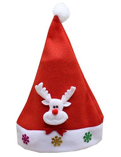 XueXian(TM) Bébé Enfant Bonnet de Noel Décoration de Noel pour Performance et Fête en Tissu(Faon)