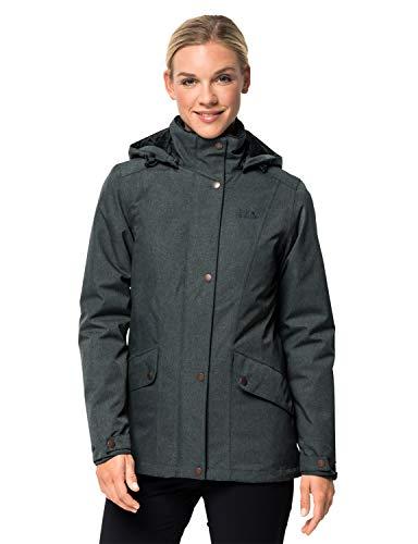 Jack Wolfskin Damen Park Avenue Jacket Wetterschutzjacke, Greenish Grey, L